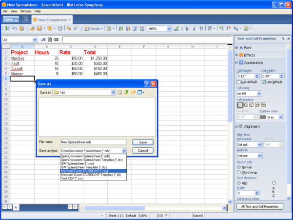 Lotus Spreadsheet For Taking A Look At Ibm Lotus Symphony Spreadsheets  Page 5  Techrepublic