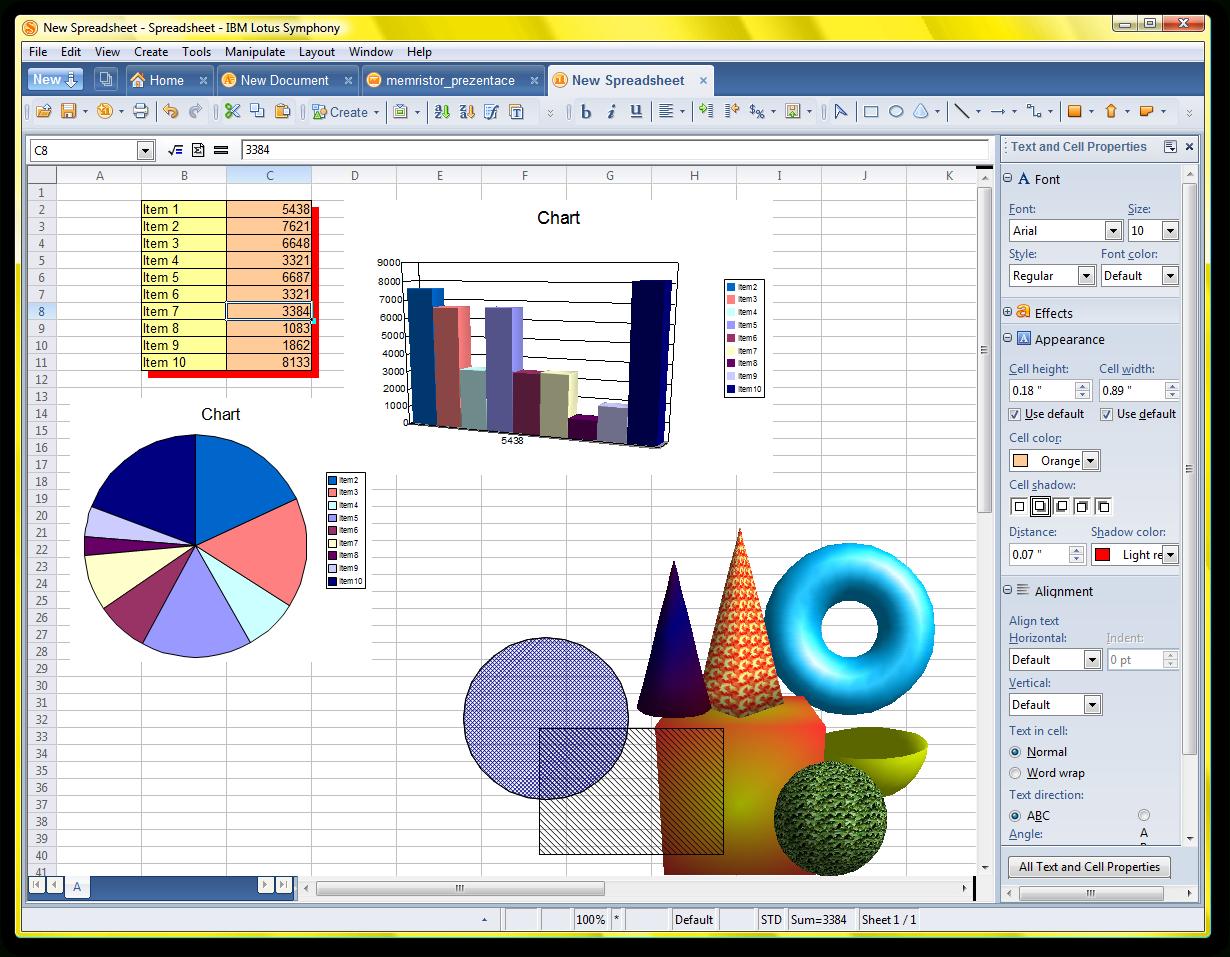 Lotus Spreadsheet Intended For Ibm Lotus Symphony  Spreadsheet Editor  Screenshots Archive