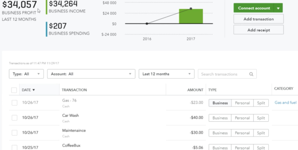 Lyft Driver Excel Spreadsheet For Quickbooks Selfemployed For Uber Drivers  With Free Trial