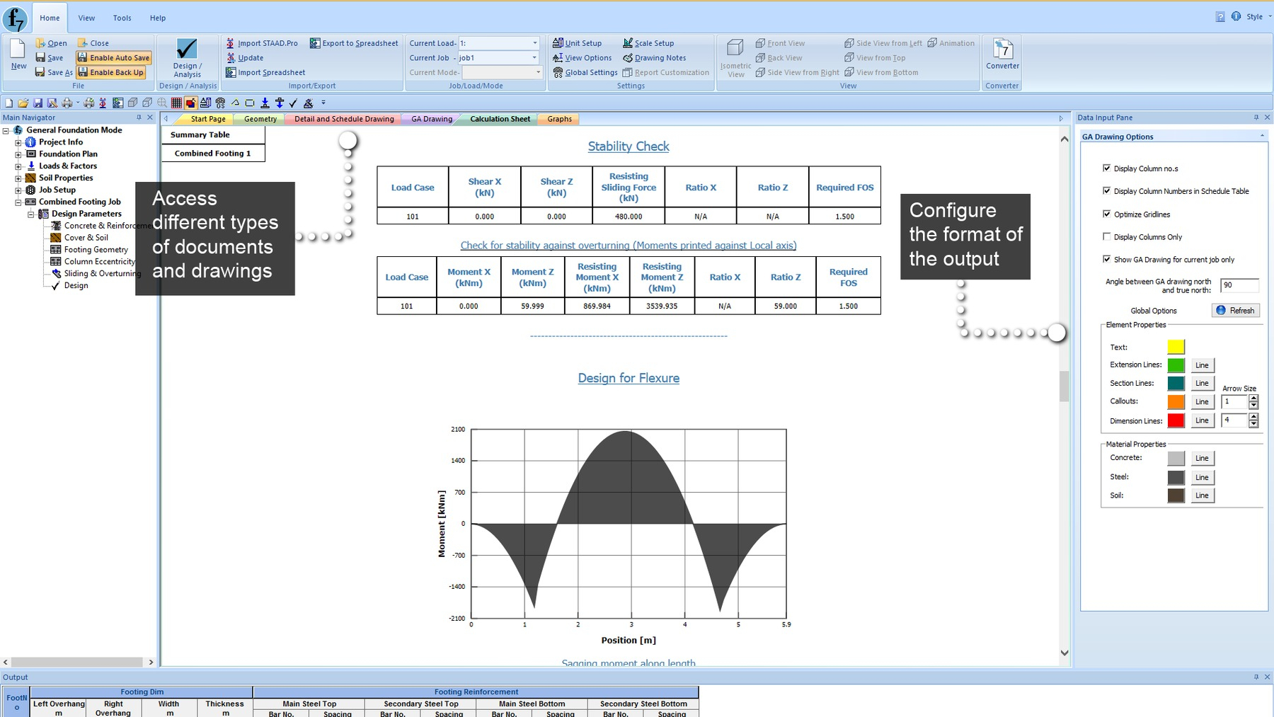 Machine Foundation Design Spreadsheet In Staad Foundation Advanced Ataglance  Research Engineers