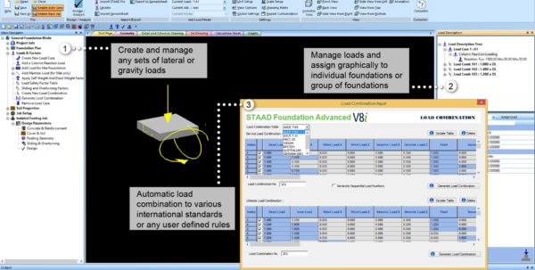 Machine Foundation Design Spreadsheet Intended For Staad Foundation Advanced Ataglance  Research Engineers