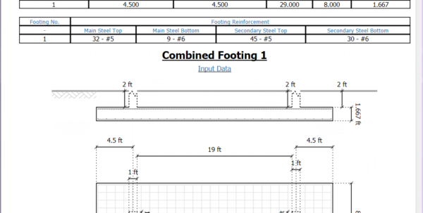 Machine Foundation Design Spreadsheet Regarding Dynamic Drawings In The Calculation Sheet