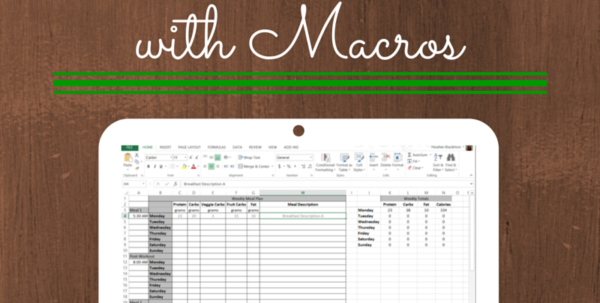 Macronutrient Spreadsheet Regarding Meal Planning With Macros  Free Template  Fitaspire Macronutrient Spreadsheet Google Spreadsheet