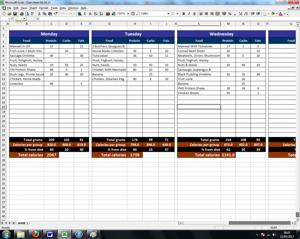 Macronutrient Spreadsheet Throughout Macronutrient Spreadsheet  Aljererlotgd