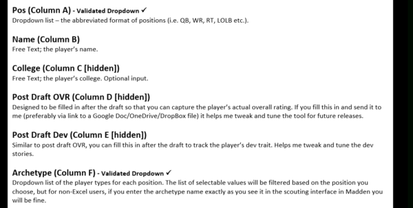 Madden 18 Player Ratings Spreadsheet Within Madden 18 Cfm Scouting Tool  Operation Sports Forums