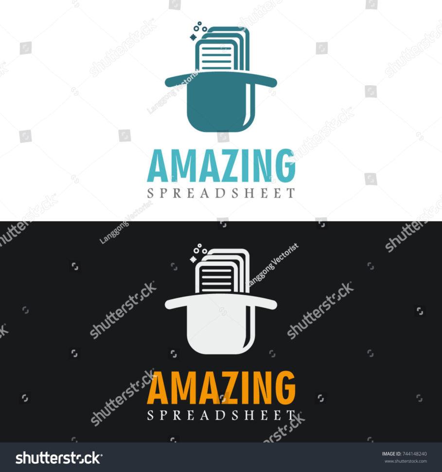 Magic Spreadsheet For Amazing Magic Spreadsheet Logo Stock Vector Royalty Free 744148240
