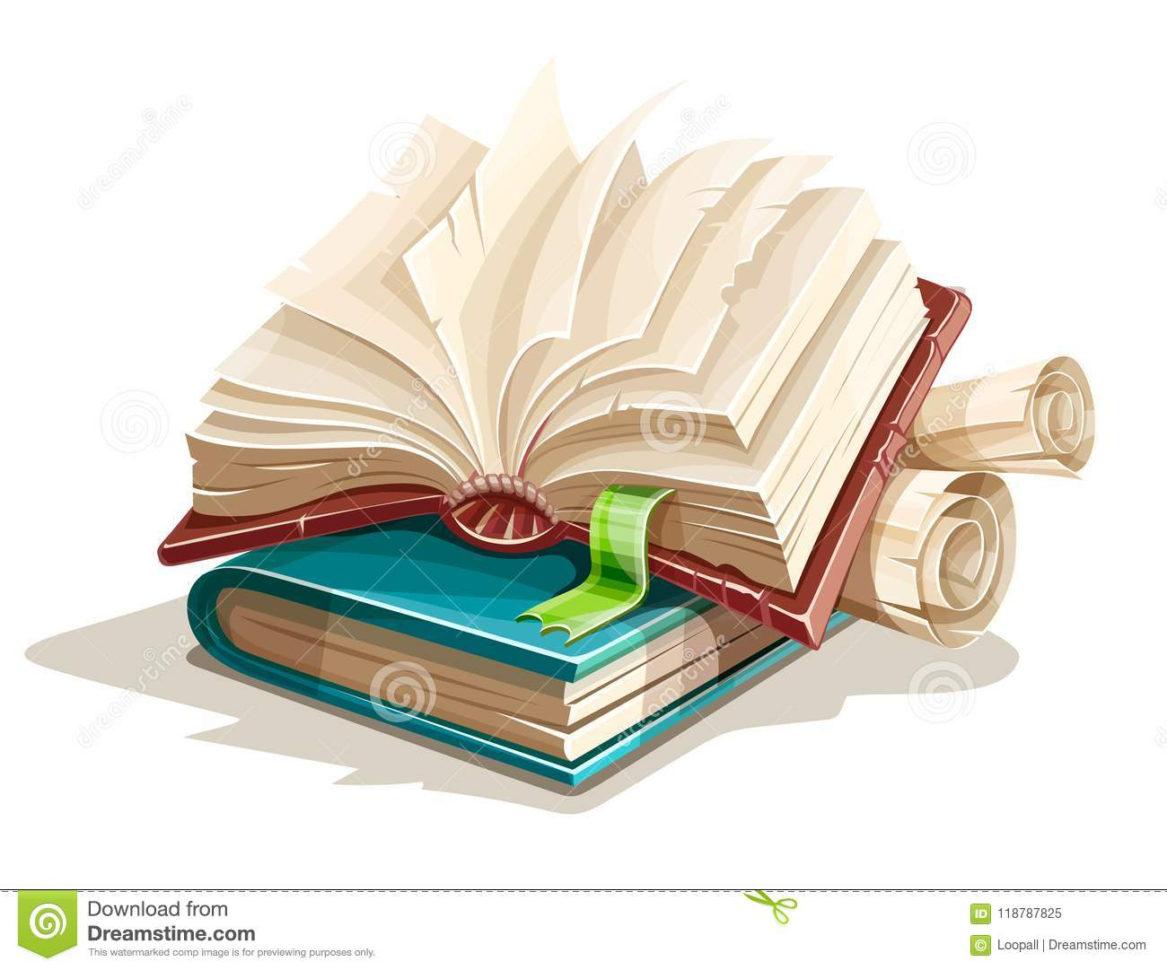 Magic Spreadsheet Throughout Magic Books Spreadsheet From Fairy Tale Stock Vector  Illustration