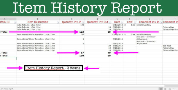 Magic Spreadsheet With Reports: Inventory Control Spreadsheet  Inventory Magic Excel