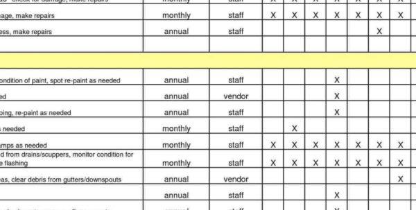Maintenance Spreadsheet Template With Preventive Maintenance Spreadsheet Excel Download Template Invoice