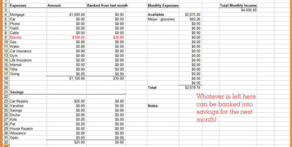 Making A Spreadsheet For Bills For How To Make A Financial Spreadsheet  Resourcesaver