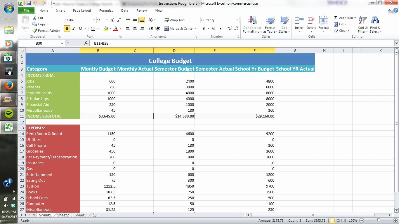 Making A Spreadsheet For Bills In How To Make Spreadsheets On Excel – Theomega.ca