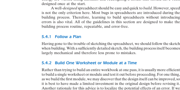 Management Science The Art Of Modeling With Spreadsheets Inside Building A Workbook  Management Science: The Art Of Modeling With