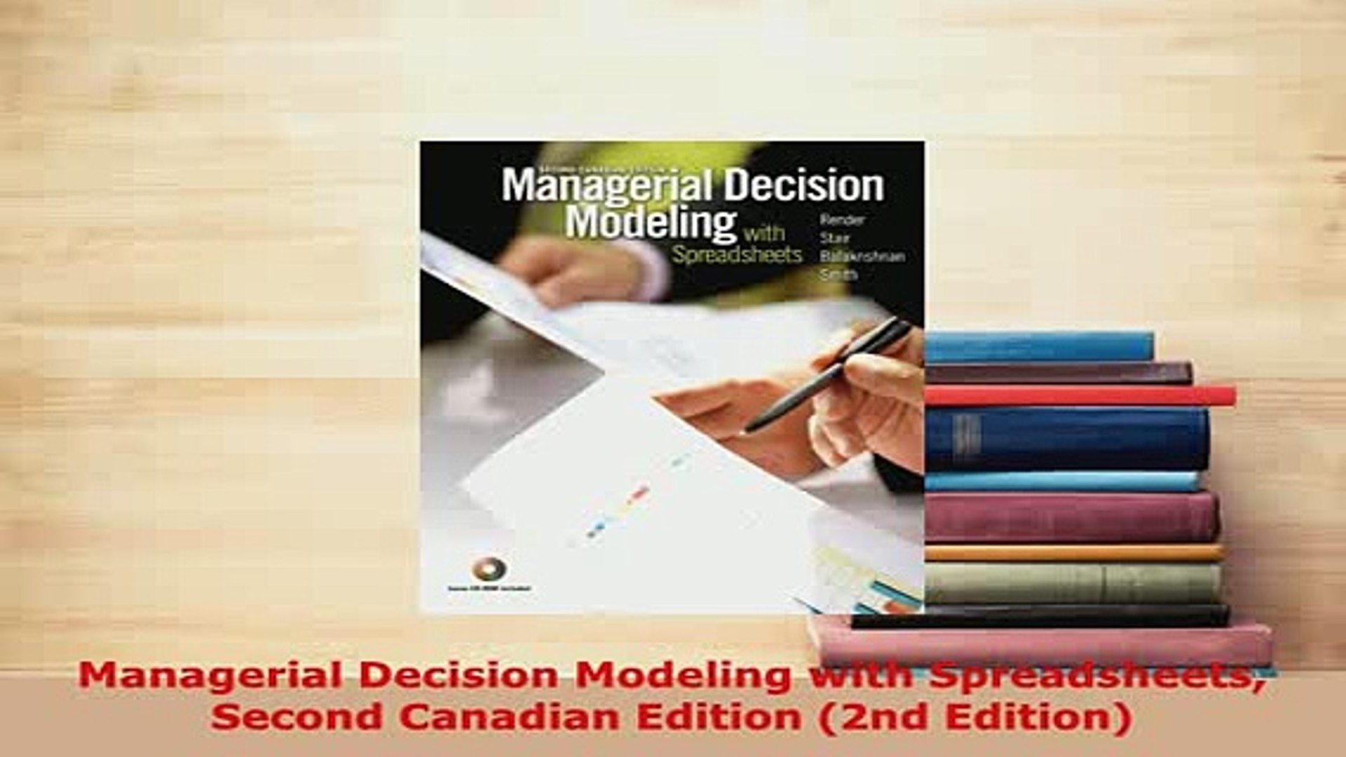 Managerial Decision Modeling With Spreadsheets 2Nd Edition In Pdf Managerial Decision Modeling With Spreadsheets Second Canadian
