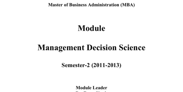 Managerial Decision Modeling With Spreadsheets 2Nd Edition Pdf In Management Decision Modeling With Spreadsheets