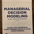 Managerial Decision Modeling With Spreadsheets 2Nd Edition Pdf Regarding Managerial Decision Modeling : Business Analytics With Spreadsheets
