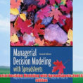 Managerial Decision Modeling With Spreadsheets 2Nd Edition Pertaining To Pdf] Managerial Decision Modeling With Spreadsheets:2Nd Second