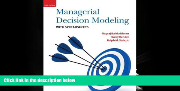 Managerial Decision Modeling With Spreadsheets 3Rd Edition Pdf Download Intended For Pdf [Free] Download Managerial Decision Modeling With Spreadsheets