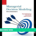 Managerial Decision Modeling With Spreadsheets 3Rd Edition Pdf Free With Pdf [Free] Download Managerial Decision Modeling With Spreadsheets