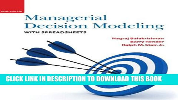 Managerial Decision Modeling With Spreadsheets 3Rd Edition Pdf Throughout Pdf] Managerial Decision Modeling With Spreadsheets 3Rd Edition