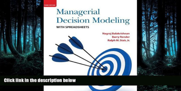 Managerial Decision Modeling With Spreadsheets 3Rd Edition Pdf Within Read The New Book Managerial Decision Modeling With Spreadsheets