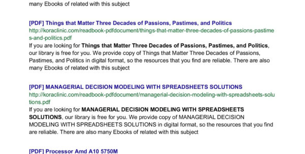 Managerial Decision Modeling With Spreadsheets Solutions Manual Download Free With Oxford Reading Tree Stage 5 Decode And Develop Highland  Pages 1