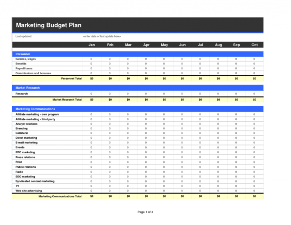 Marketing Budget Spreadsheet Template For Marketing Budget Sheet Template Stock Market Excel Spreadsheet