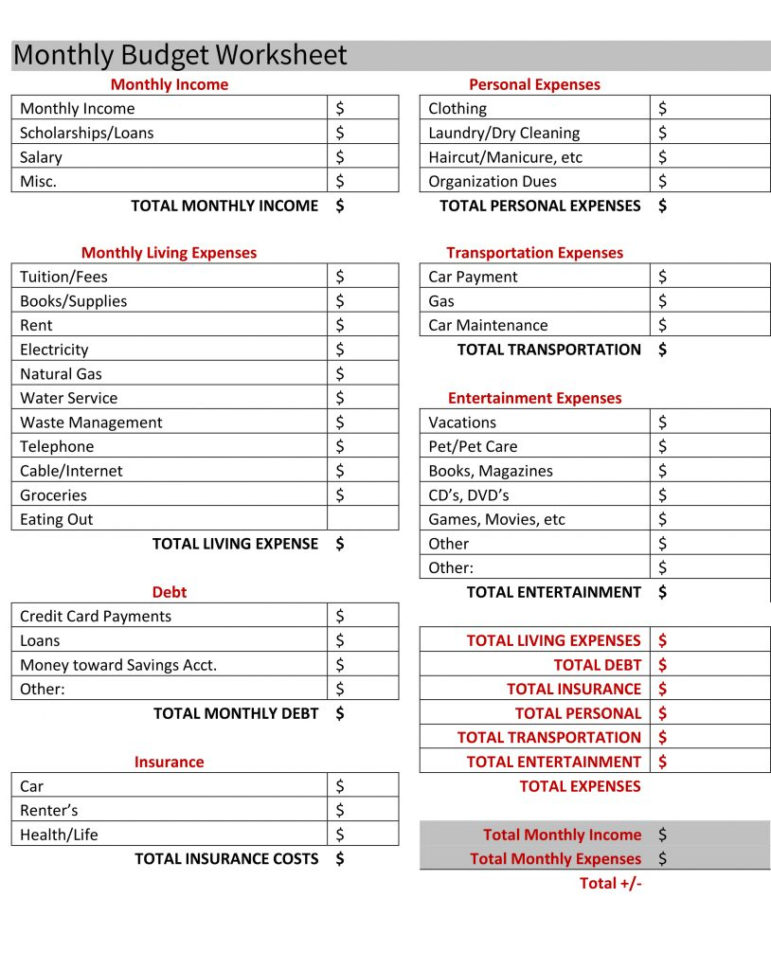 Marketing Budget Spreadsheet Template Inside Complete Budget Worksheet 6. The Marketing For Your Company