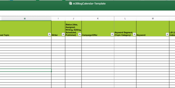 Marketing Spreadsheet Examples Within Editorial Calendar Templates For Content Marketing: The Ultimate List