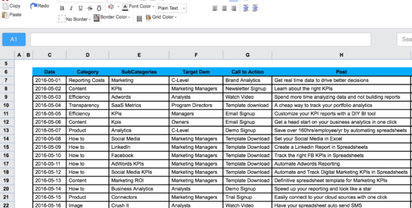 Marketing Spreadsheet With Regard To Sales And Marketing Plan Template 0 Spreadsheet Example Of Tracking