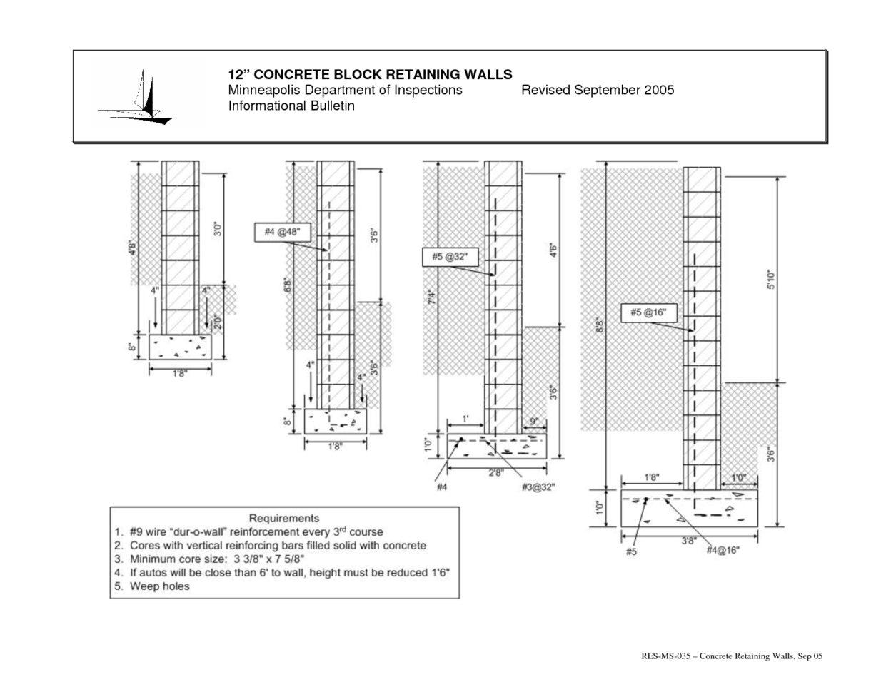 Masonry Wall Design Spreadsheet Regarding Retaining Wall Design Spreadsheet Masonry Retaining Wall Design