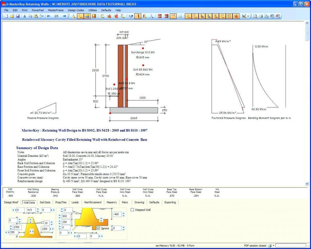 Masonry Wall Design Spreadsheet With Z Purlinsign Software Spreadsheet Masonry Retaining Wall Features