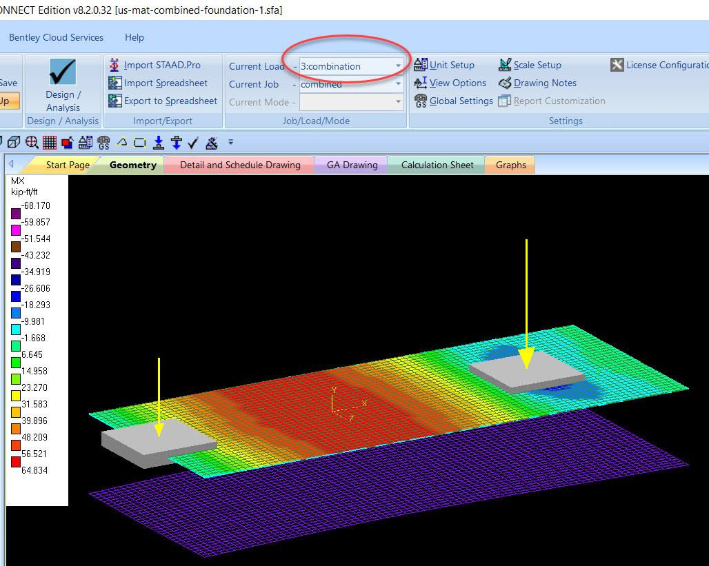 Mat Foundation Design Spreadsheet In Plate Stress Not Visible On Model  Staad Foundation Advanced  Ram