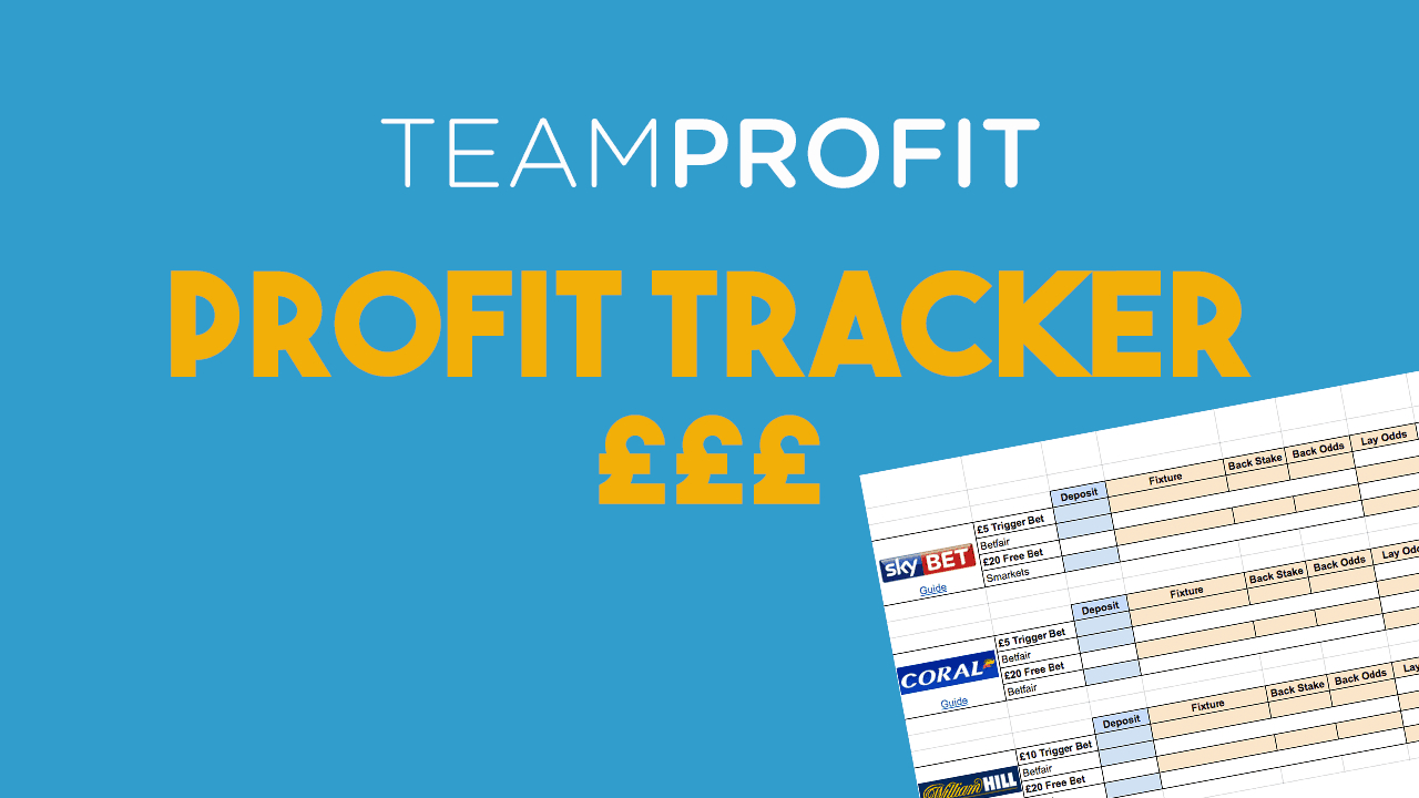 Matched Betting Excel Spreadsheet Throughout Super Simple Matched Betting Spreadsheet 2019 Team Profit