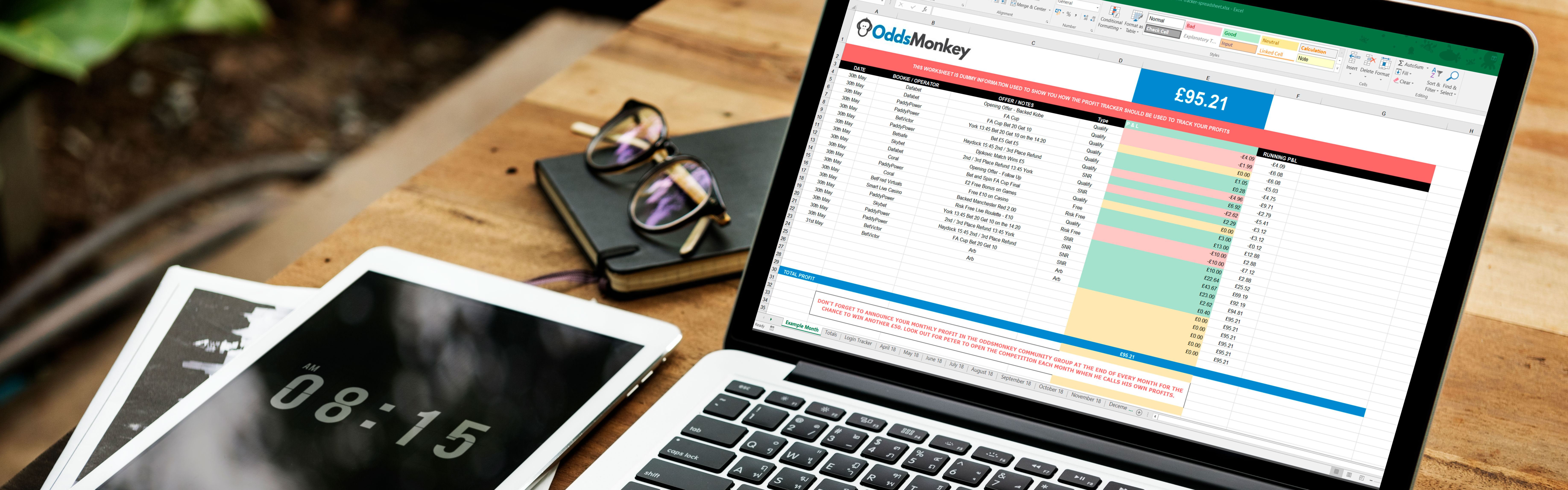 Matched Betting Spreadsheet Inside Free Matched Betting Spreadsheet  Oddsmonkey Blog