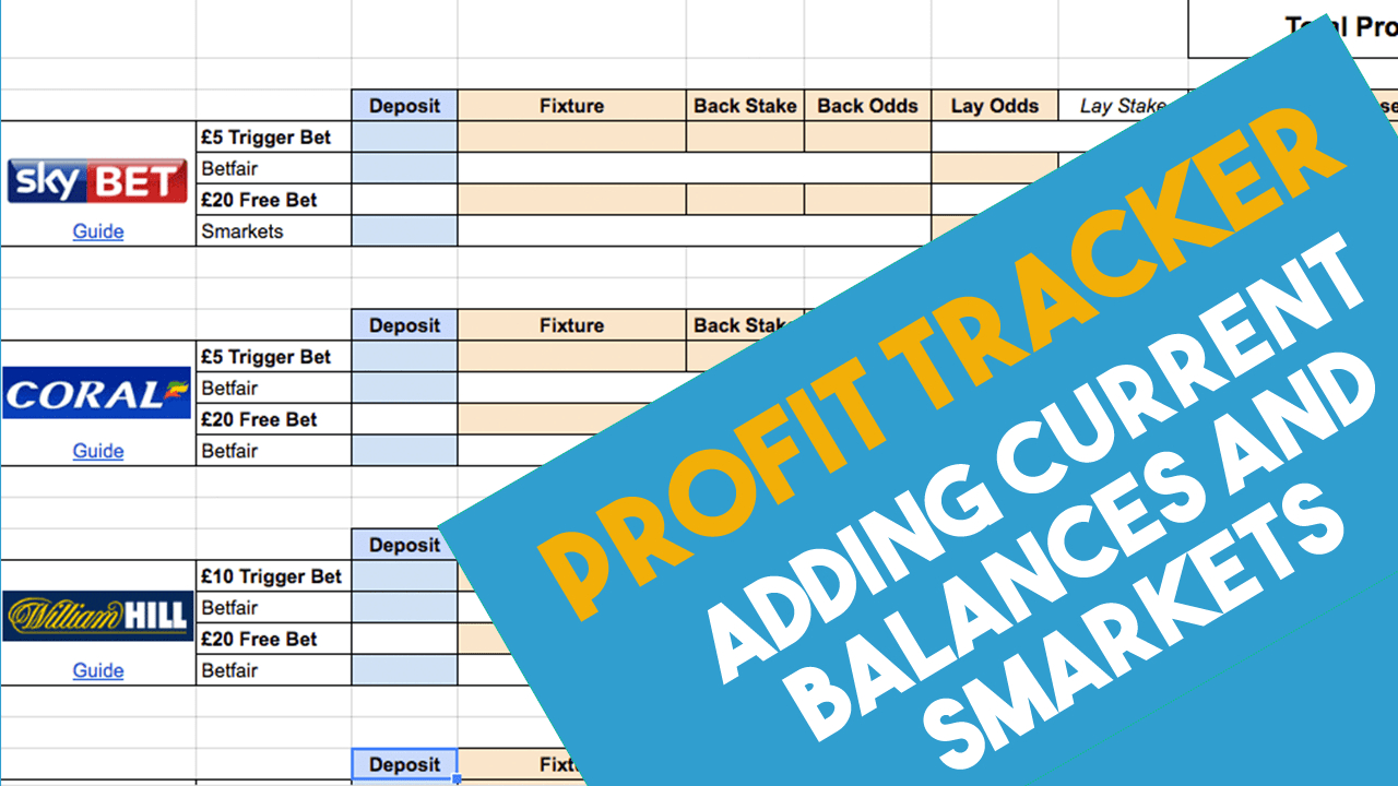 Matched Betting Tracker Spreadsheet In Super Simple Matched Betting Spreadsheet 2019 Team Profit