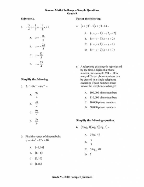 Math Spreadsheet Within Kumon Sample Worksheets English Reading Math Practice Spreadsheet