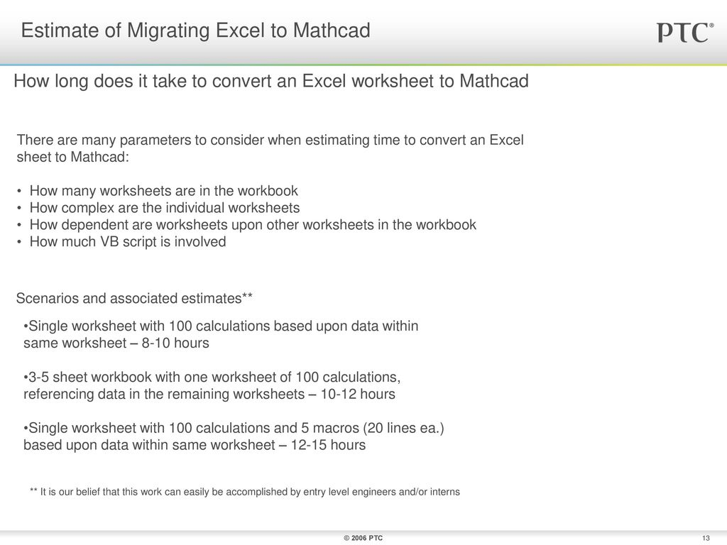 Mathcad Spreadsheet Throughout Converting Excel To Mathcad  Ppt Download