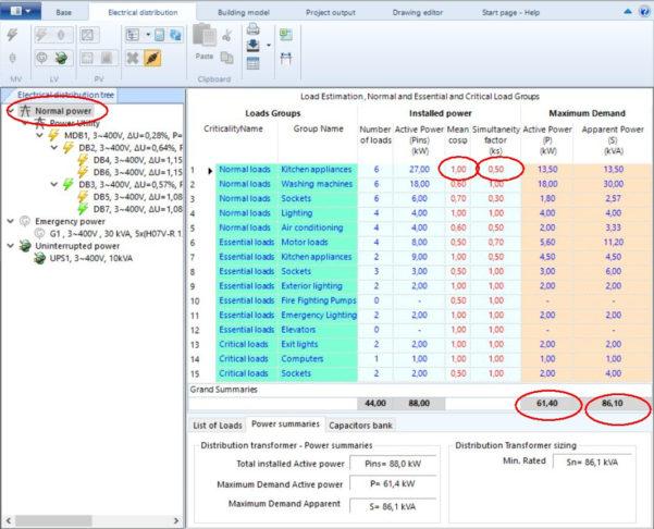 Maximum Demand Calculation Spreadsheet Regarding Electricaldesign Release 16.10
