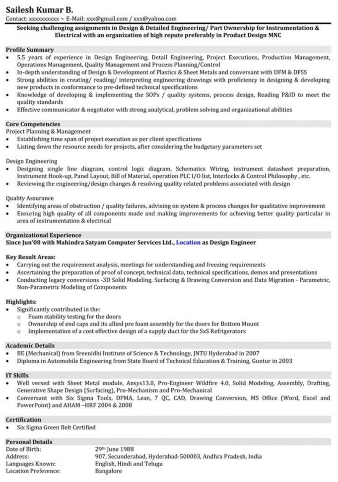 Mechanical Engineering Excel Spreadsheets Intended For 015 Mechanical Engineering Resume Template ~ Ulyssesroom