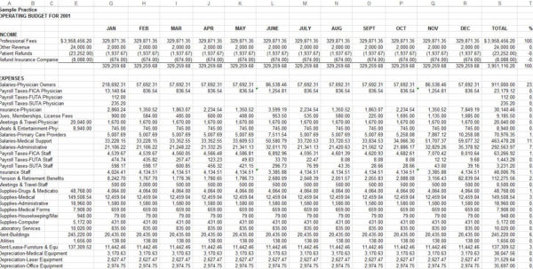 Medical Practice Budget Spreadsheet For Sample Medical Practice Budget  Physician Cpa For Medical Practices