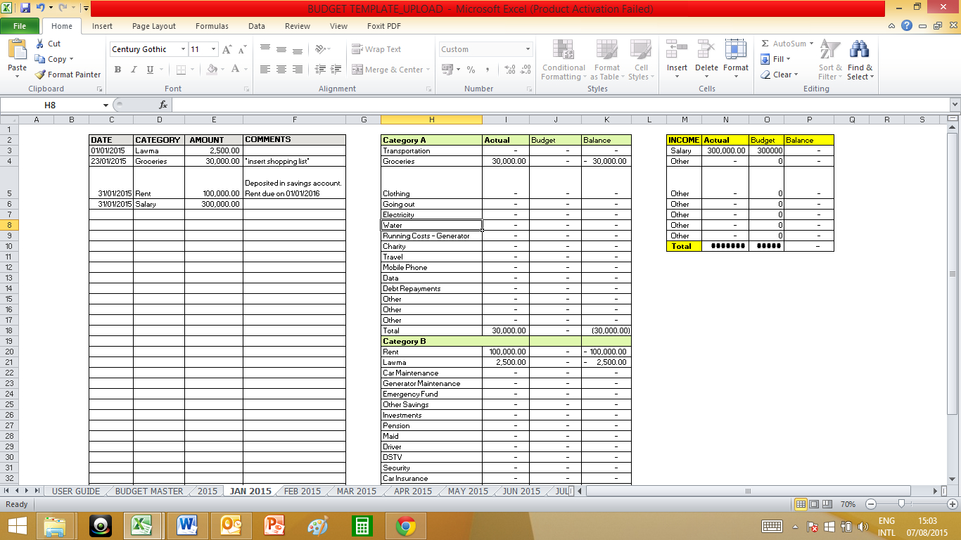 Medical Practice Budget Spreadsheet In Budget  Sisi On A Budget