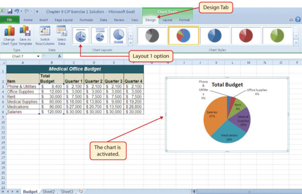Medical Practice Budget Spreadsheet Regarding Chapter Assignments And Tests