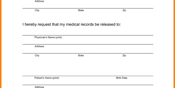 Medical Record Spreadsheet Pertaining To Medical Records Release Form Template Beautiful Request Gallery