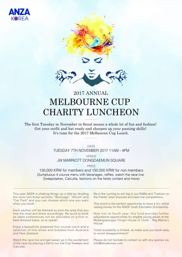 Melbourne Cup Calcutta Spreadsheet Within Melbourne Cup Lunch 2017 – Anza Korea