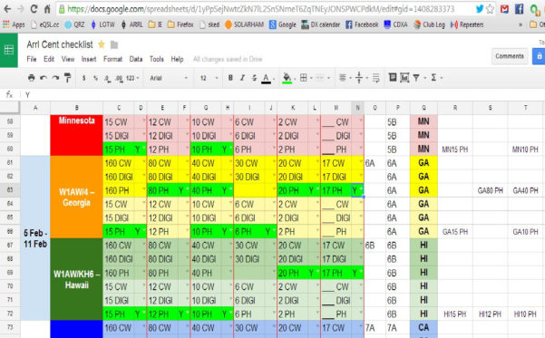 Membership Tracking Spreadsheet Throughout Forums / Member Forum / Spreadsheet For Tracking W1Aw/ Stations