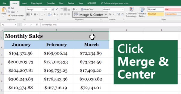 Merge Excel Spreadsheets Inside How To Merge Cells In Excel For Beginners Update: January 2019