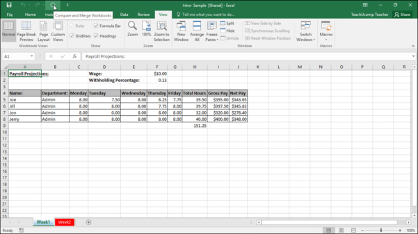 Merge Excel Spreadsheets Within Merge Changes In Copies Of Shared Workbooks In Excel  Instructions