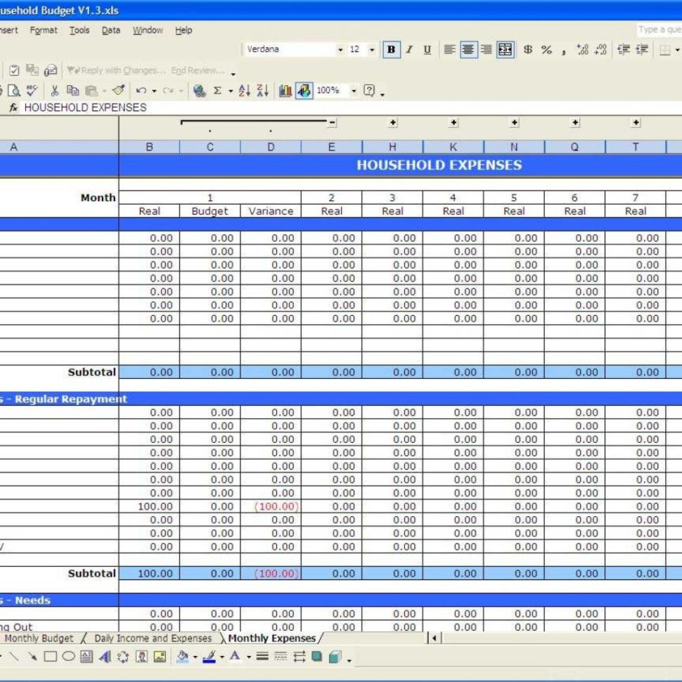 Microsoft Budget Spreadsheet Intended For Microsoft Word Budget Template Regarding Free Budget Spreadsheet