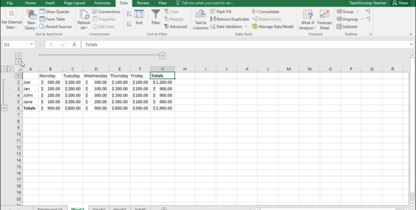 Microsoft Excel Spreadsheet Instructions Throughout Outline Excel Data In Microsoft Excel  Instructions