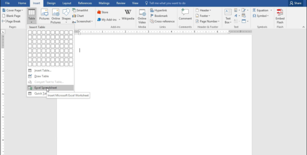 Microsoft Excel Spreadsheet Tutorial Inside Insert An Excel Worksheet Into A Word Document  Tutorial Microsoft Excel Spreadsheet Tutorial Google Spreadsheet